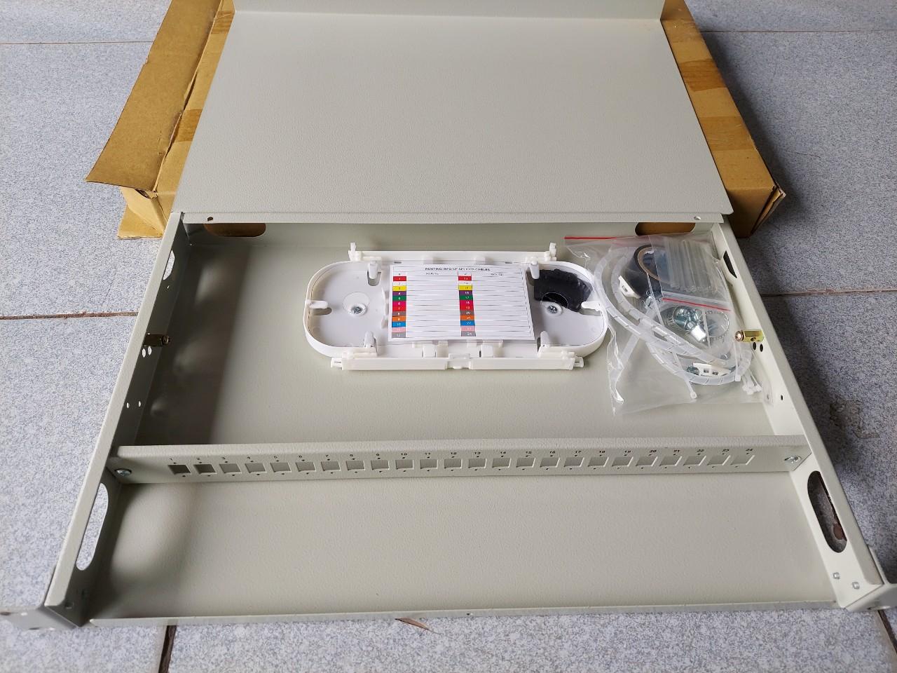 Hộp phối quang ODF 24FO, 24 core, 24 port ODF-RF24 Multimode
