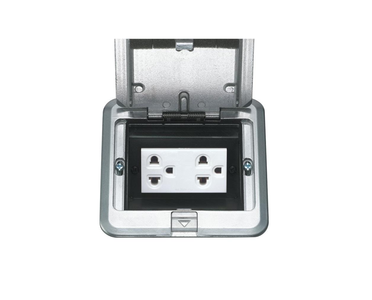 Ổ cắm điện đôi 3 chấu âm sàn Panasonic DUF1200LTK-1