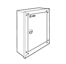 Tủ điện âm tường SINO CKR4 350x250x120 vỏ kim loại