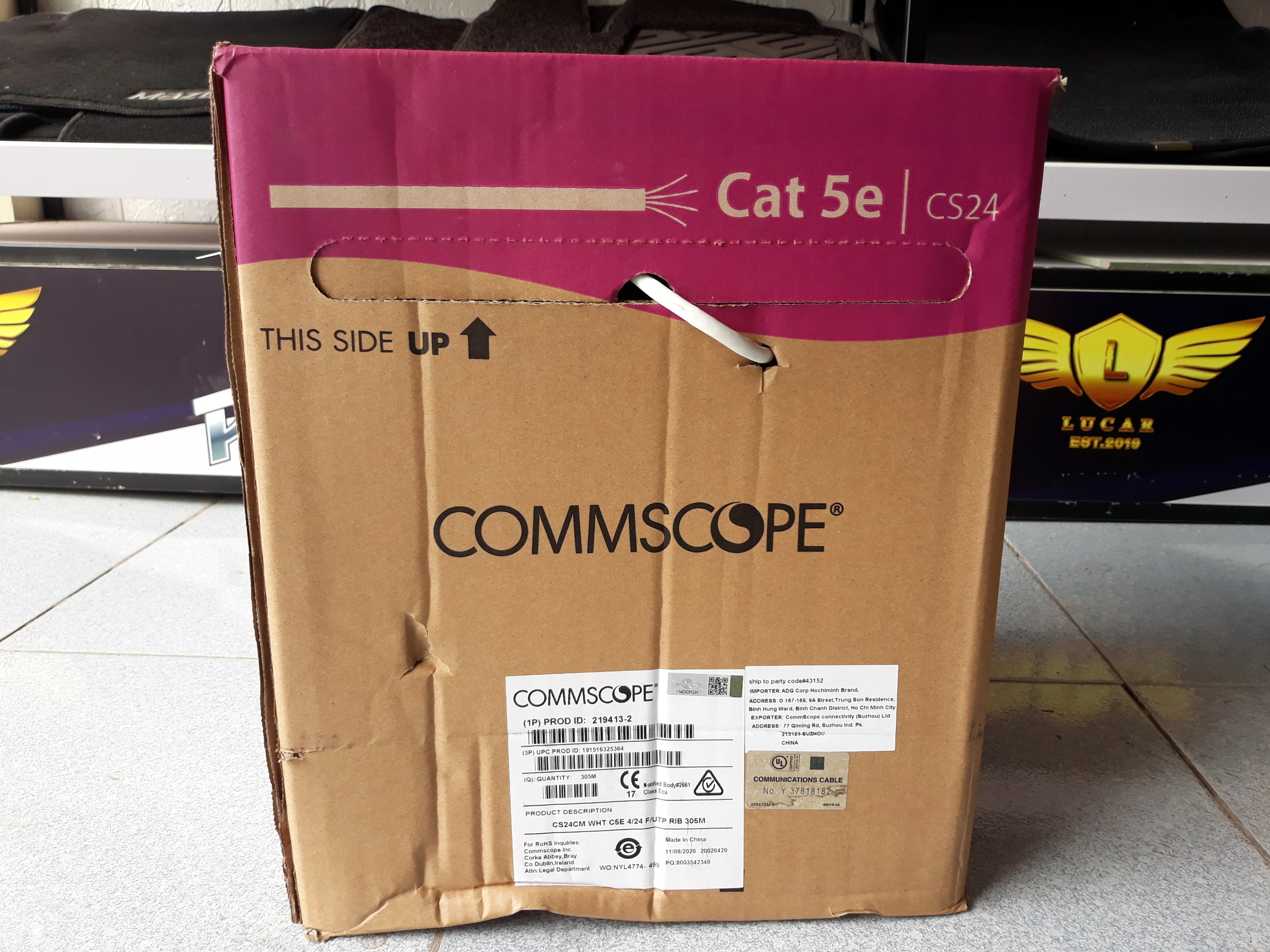 Dây cáp mạng Cat5e FTP 4 Pair Commscope 219413-2 chống nhiễu