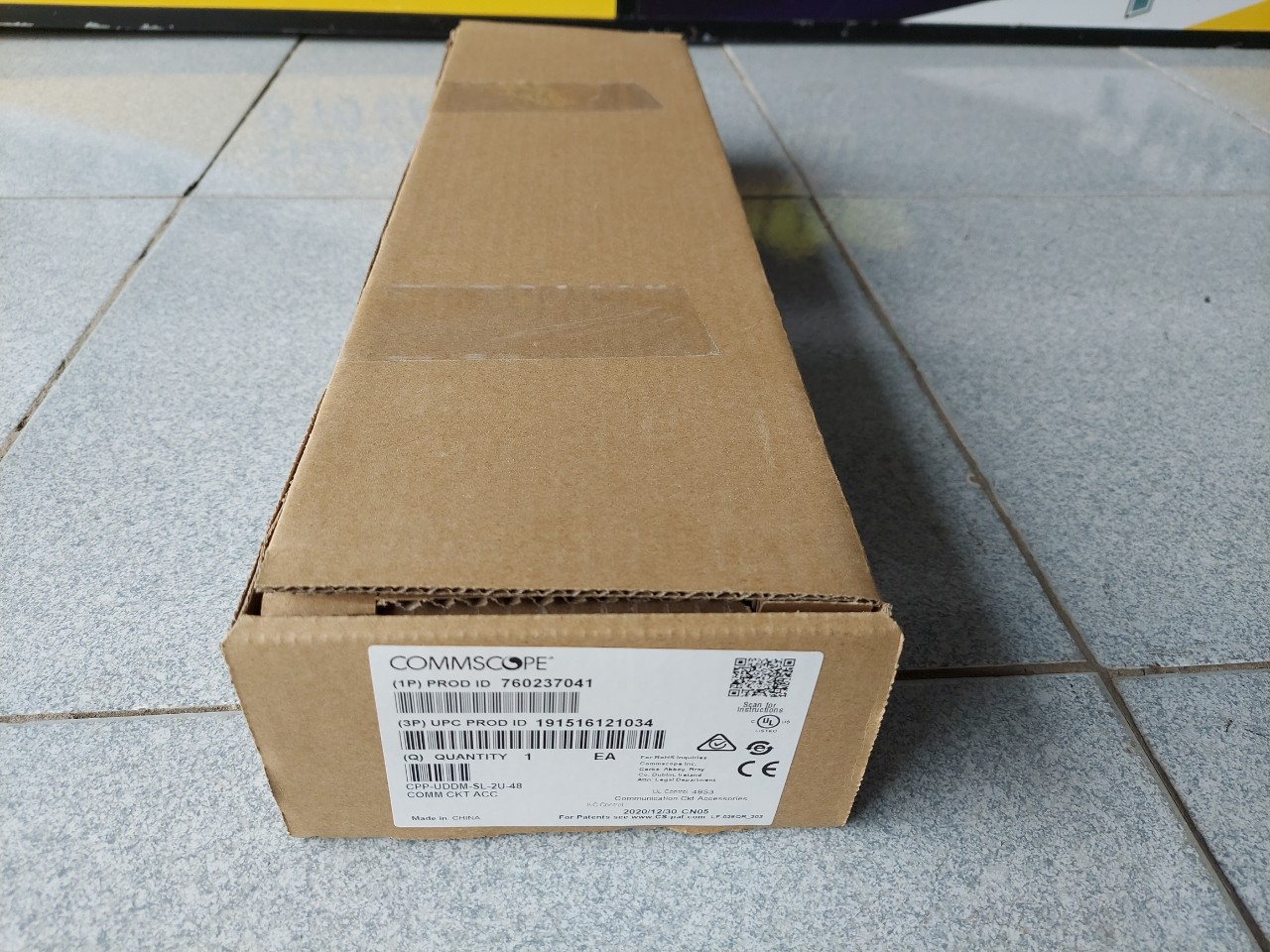 Patch Panel 48 port Cat5e Commscope 760237041, 9-1375191-2