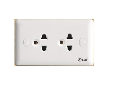 Ổ cắm điện đôi 3 chấu 16A SINO S1982E