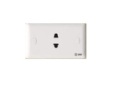 Ổ cắm điện đơn 2 chấu 16A SINO S1981