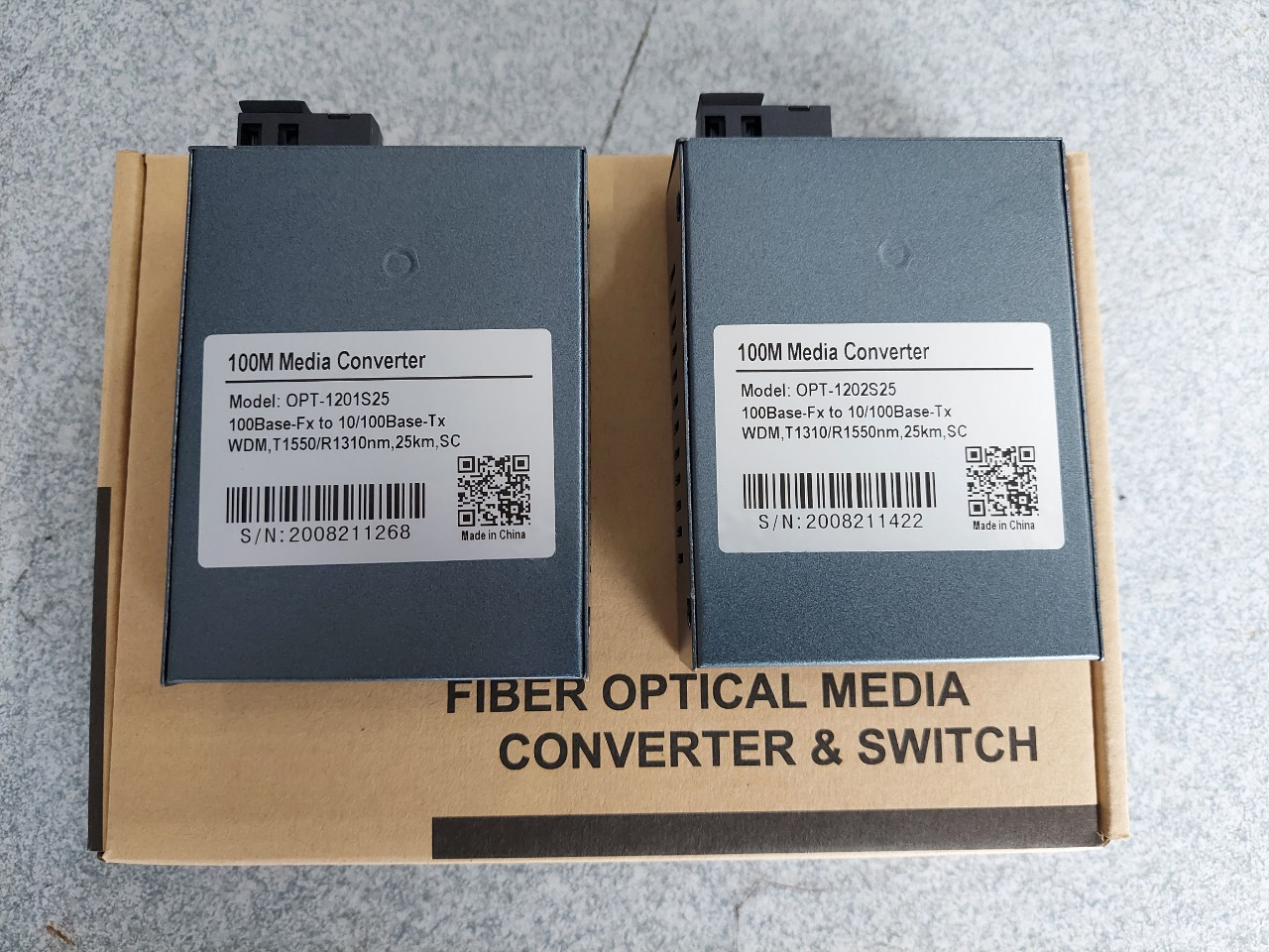 Converter quang 1 sợi 10/100M OPTONE OPT1201S25 / OPT1202S25