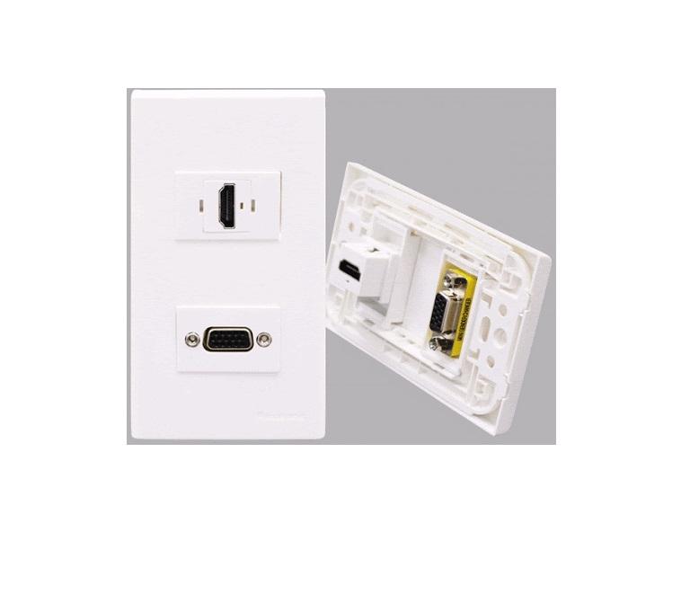 Ổ cắm HDMI + VGA âm tường