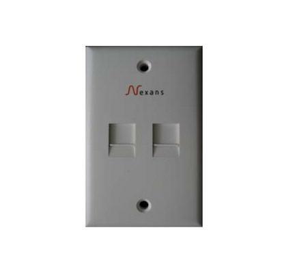 Mặt ổ cắm mạng 2 cổng Nexans N701.142