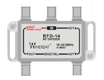 Bộ chia Winersat RFD-14 truyền hình cáp 4 đường tivi 1 ra 4