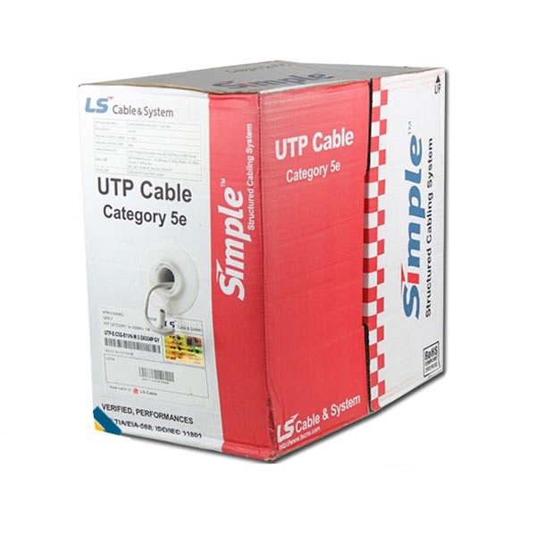 Dây cáp mạng LS Cat5e UTP 4 pair UTP-E-C5G-E1VN-M 0.5X4P/GY