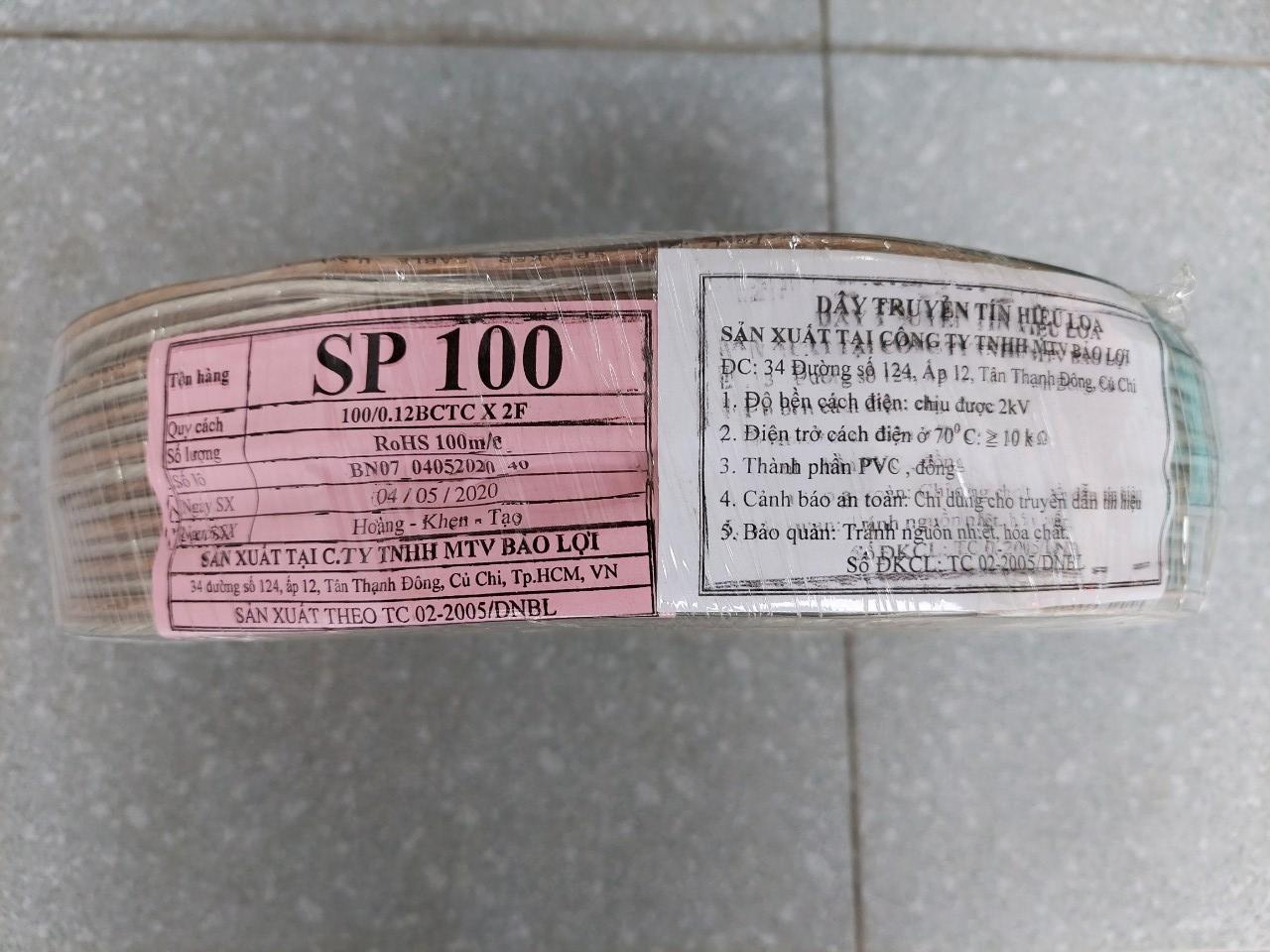 Cáp âm thanh Poli SP100, dây tín hiệu loa Bảo Lợi 2x1.5