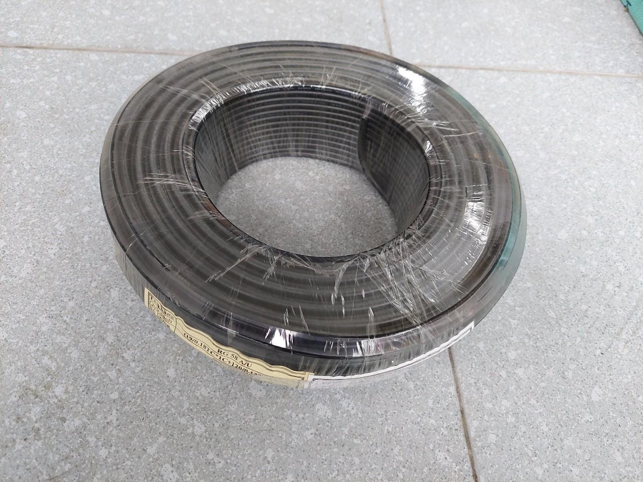 Cáp đồng trục RG58, RG58A/U lõi mềm Camera thang máy
