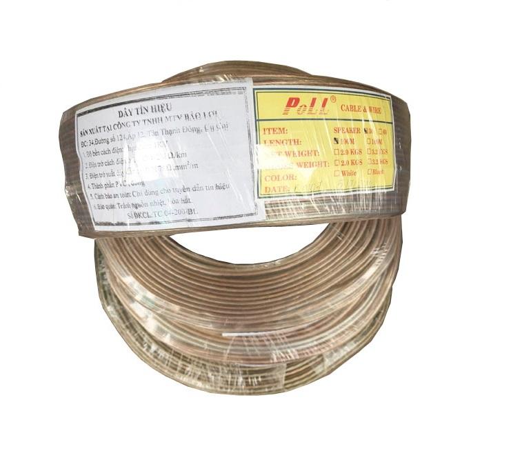 Cáp âm thanh Poli SP60, dây tín hiệu loa Bảo Lợi 2x1.0