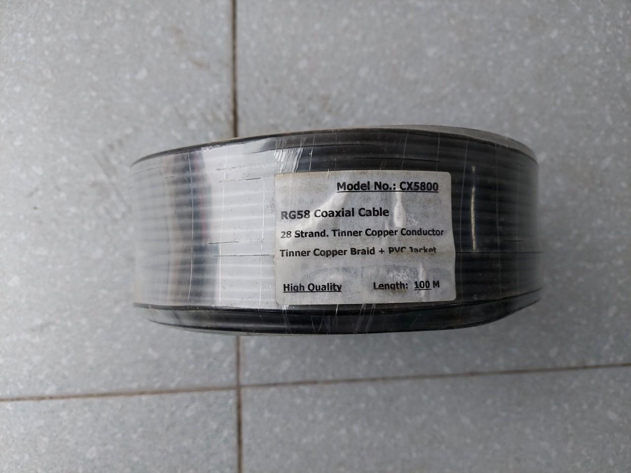 Cáp đồng trục RG58 lõi mềm Camera chạy trong thang máy