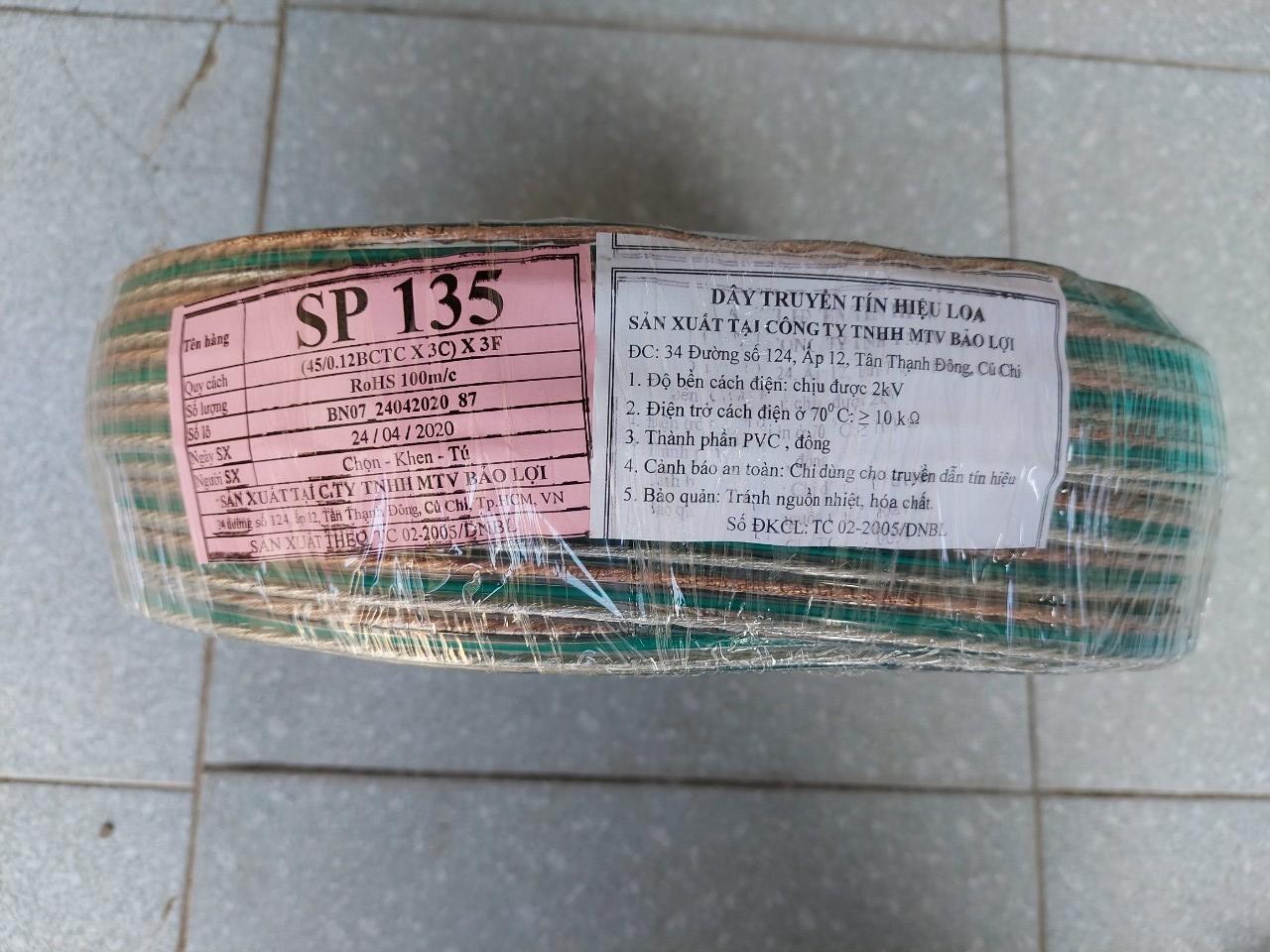 Cáp âm thanh Poli SP135, dây tín hiệu loa Bảo Lợi 2x2.5