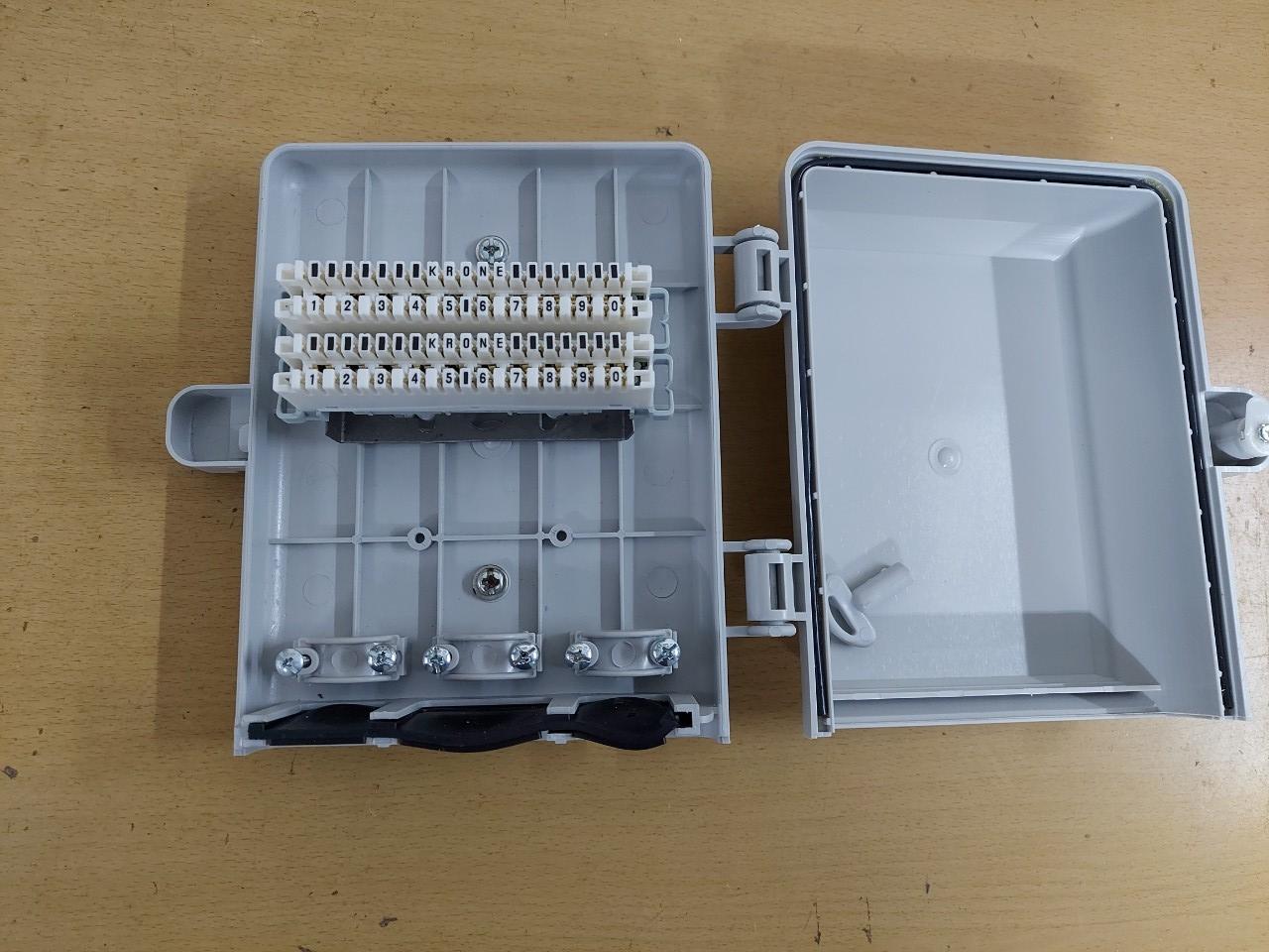 Hộp cáp điện thoại 20 đôi 20x2   MDF IDF 20 pair POSTEF HC2TM
