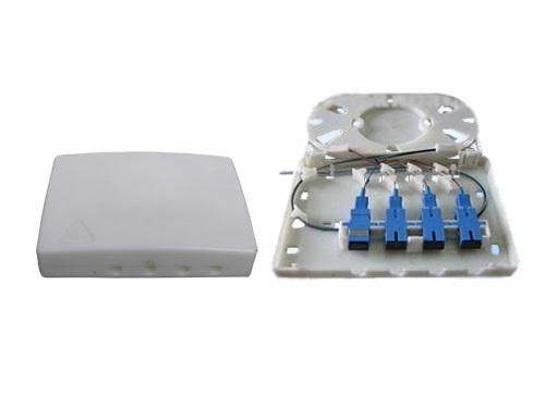 Hộp phối quang ODF 4FO, 4 core, 4 port vỏ nhựa OTB-04C Single mode