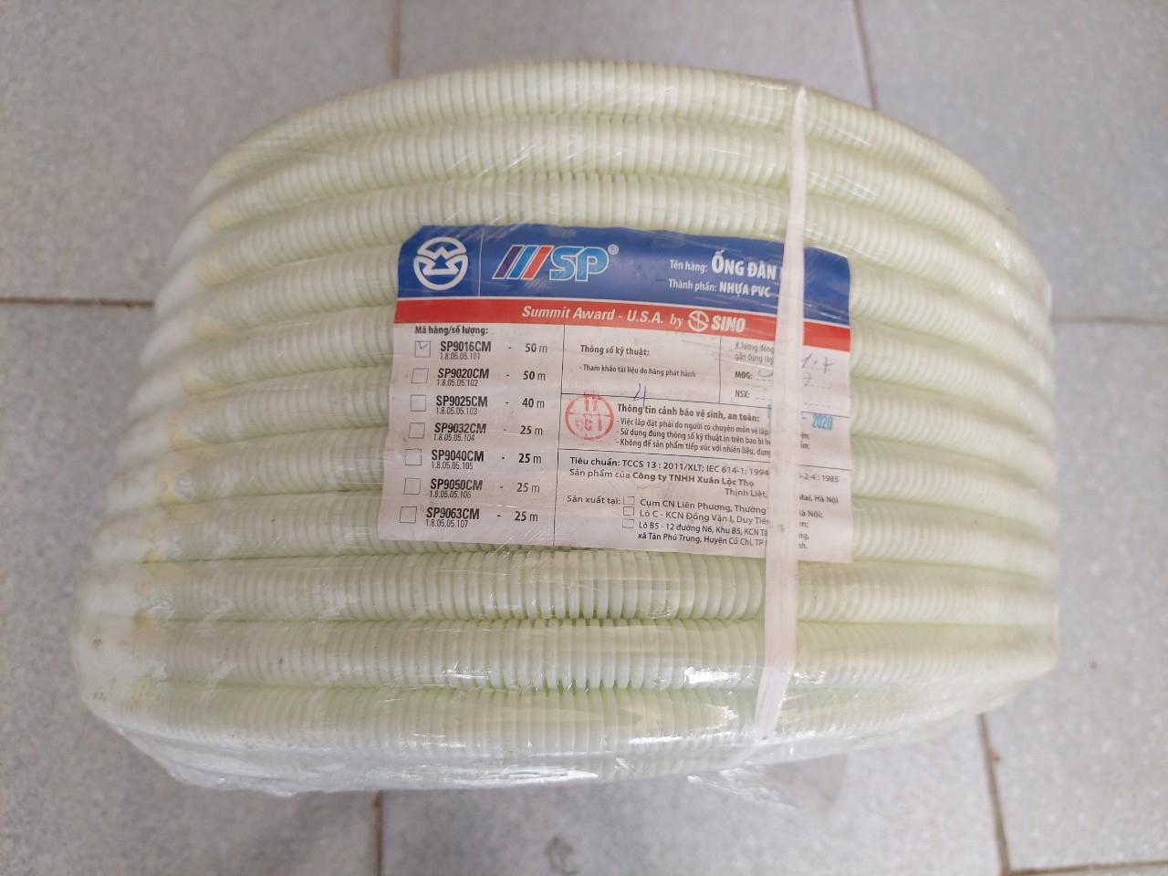 Ống mềm đàn hồi ruột gà PVC SP D16 SINO SP9016CM
