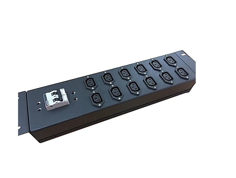 Ổ cắm nguồn PDU C13 tủ rack 12 ổ cắm 3 chấu có MCB 2P 32A