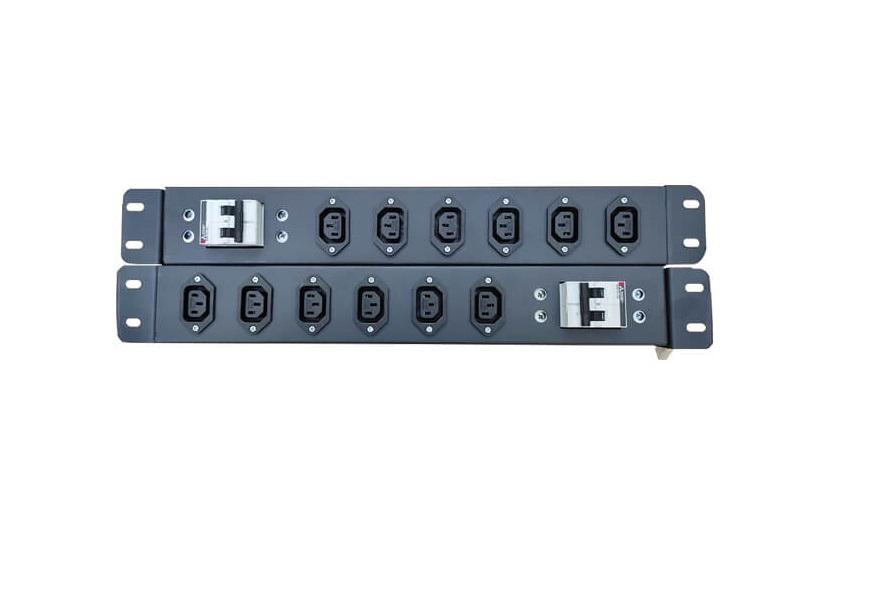 """Ổ cắm điện C13 C14 6 cổng UPS PDU gắn tủ Rack 19"""" 1U"""