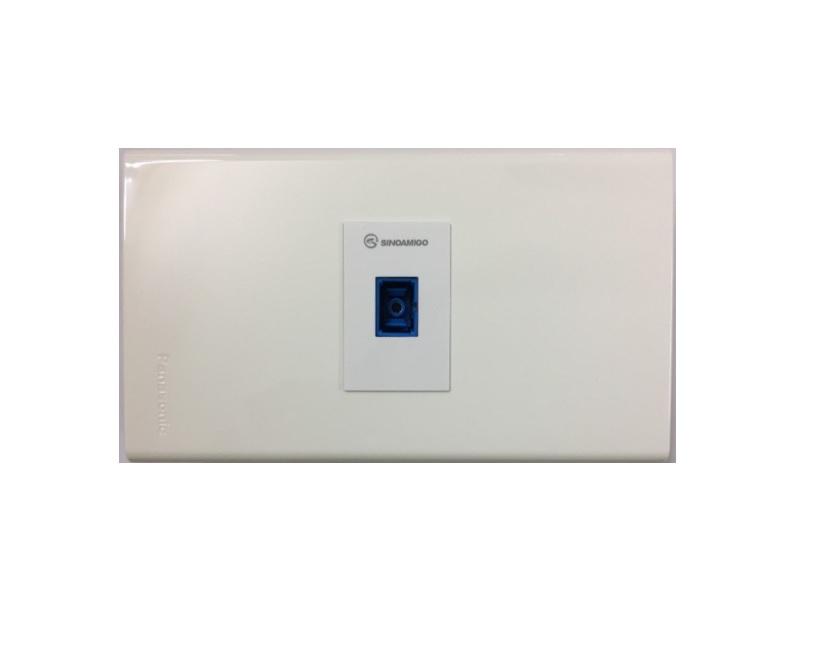 Ổ cắm cáp quang âm tường 1 cổng SC UPC single mode
