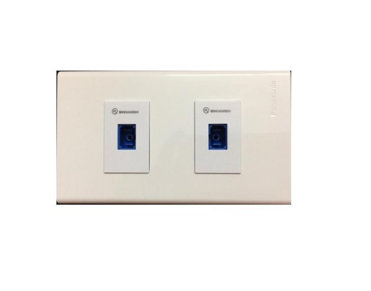 Ổ cắm cáp quang SC/UPC single mode 2 cổng âm tường