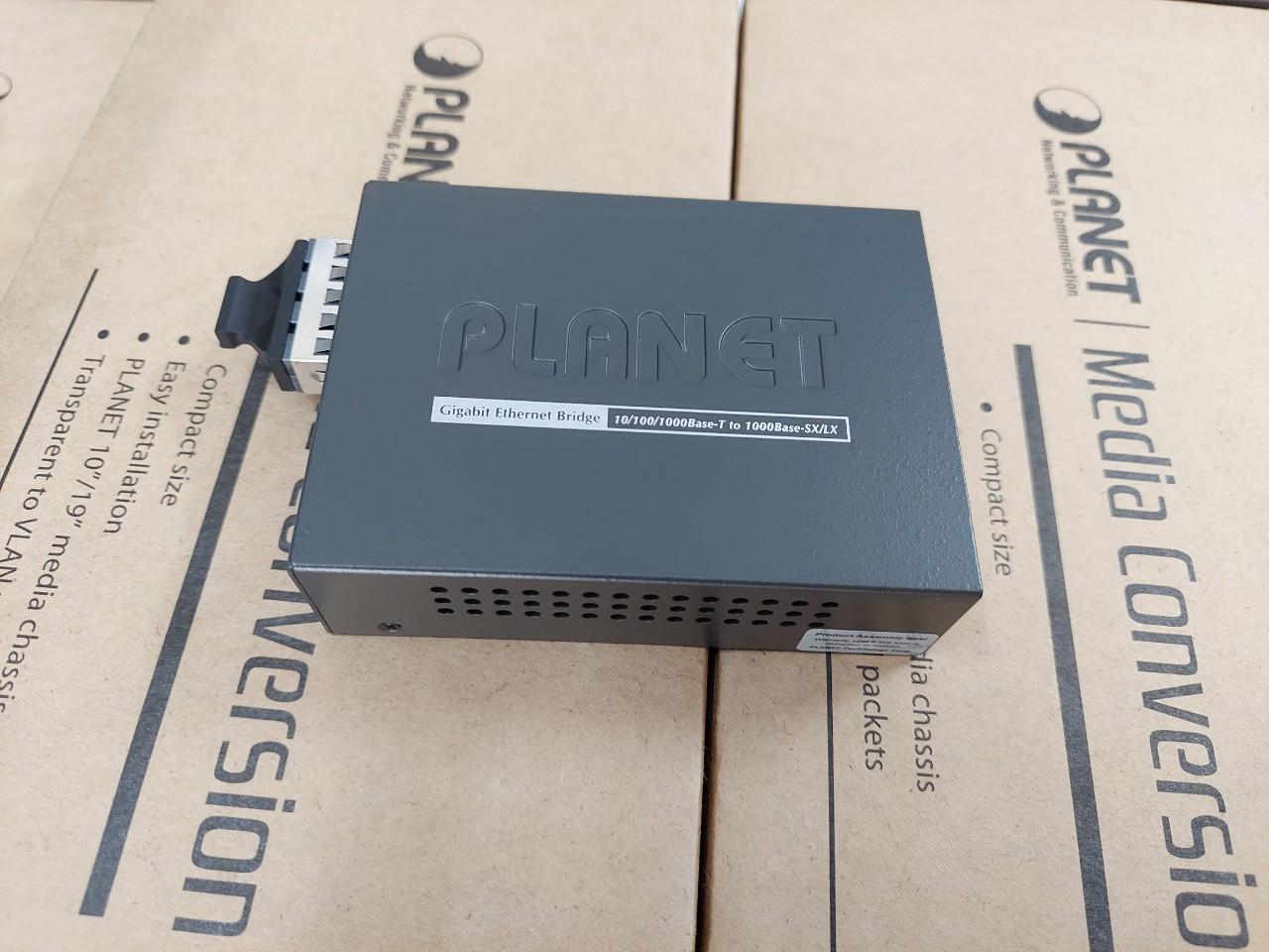 Bộ chuyển đổi Converter quang điện PLANET GT-802S 1000Mbps Singlemode