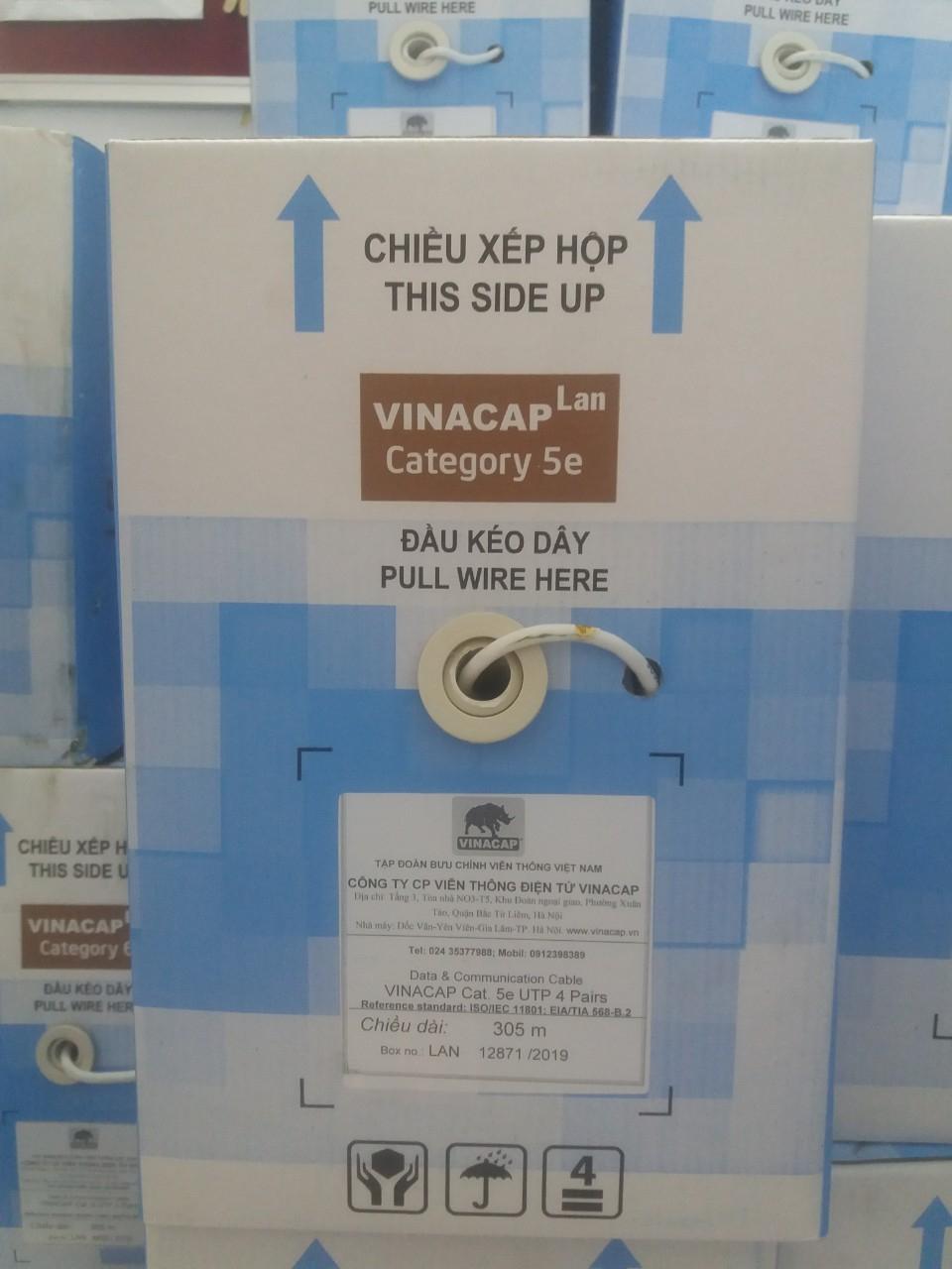 Dây cáp mạng VINACAP Cat5e UTP 4 đôi