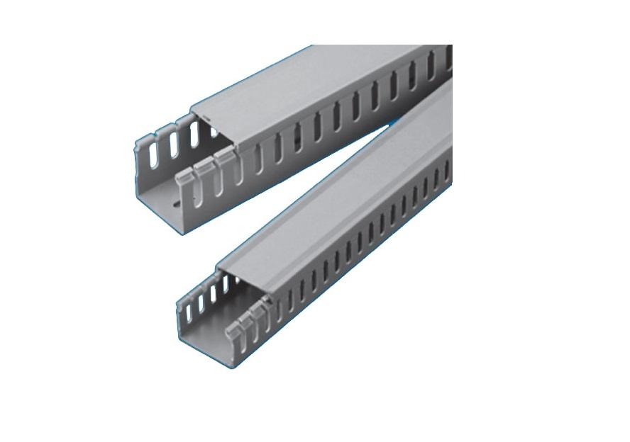 Máng ghen nhựa răng lược 25x25, Nẹp lỗ công nghiệp 25x25x1700